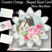 Country Cottage - Shaped Easel Card