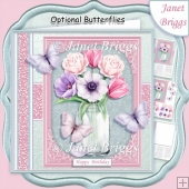 JAR OF SPRING BOUQUET 7.5 Decoupage & Insert Kit All Occasions