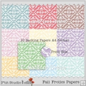 Damask Lace Style 10 Backing Papers For Weddings etc