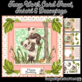 Team Work Decoupage Card Front & Insert