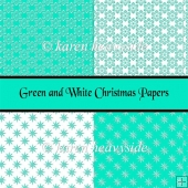 Green And White Christmas Papers