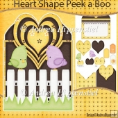 A little bird told me Heart Shape Peek a Boo Card