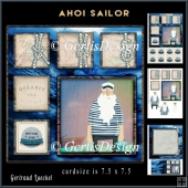 Ahoi Sailor Cardtopper Minikit 891