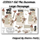 CCDS17 SID THE SNOWMAN LARGE DECOUPAGE