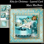 Kitty for Christmas - Layered Card