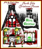 North Pole Christmas House Clipart