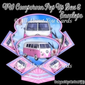 VW Campervan Pop Up Box Card & Envelope