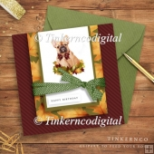 French Bulldog, Autumn Card Kit with sentiments