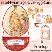Easel Pyramage Card Birds