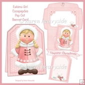 Eskimo Girl Escapades Pop Out Banner Card