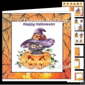 Pumpkin Kitten Fun Halloween Mini kit