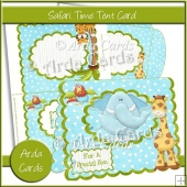 Safari Time Tent Card