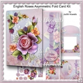 English Roses Asymmetric Fold Card Kit