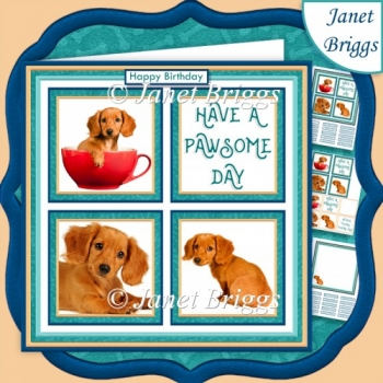 Dachshund PUPPY 7.5 Quick Layer Card & Insert Mini Kit