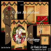 WHAT'S BEHIND THE DOOR? GET READY FOR SANTA CARD KIT