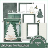 Christmas Tree Tunnel Card.