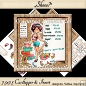 7.5 x 7.5 Card Topper with Insert who loves shoes