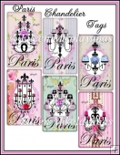 Flea Market Chic Paris Chandelier Tags