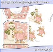 Girl & Snowman Easel Card With Drawer