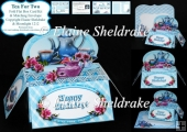 Tea For Two Box Card Kit & Matching Envelope Easy To Make