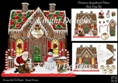 Shaped Gingerbread House Christmas Mini Page Kit