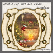 Double Pop-Out Kit: Christmas Fireplace