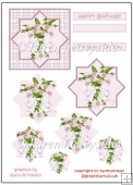 Pretty Pink Floral Lillies Diamond Pyramage(Retiring in October)