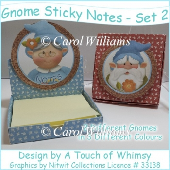 Gnome Sticky Note Desk top Boxes - Set 2