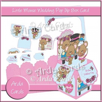 Little Mouse Wedding Day Pop Up Box Card