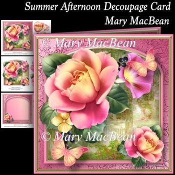 Summer Afternoon Decoupage Card