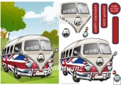 Camper Van Union Jack With Matching Insert