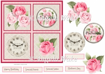 Rose purfume 7x7 card