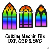 Arched Windows Cutting Machine File GSD SVG DXF