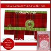 Tartan Christmas Milk Carton Box