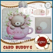 A Hug in a Mug Shaped Fold Card Kit