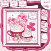 CUPCAKE AND ROSES 7.5 Decoupage & Insert Kit