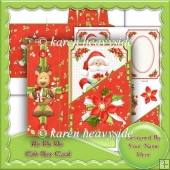 Ho Ho Ho Gift Box Card