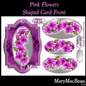 Pink Flowers Shaped Card Front