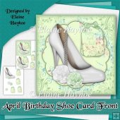 April Birthday Shoe Cardfront
