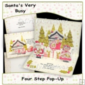 Santa's Very Busy Pop-Up Card