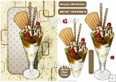 Ice Cream Sundae Chocolate With Matching Insert