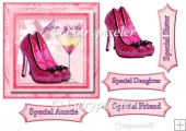 Pink Shoes Topper sheet