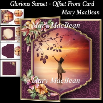 Glorious Sunset - Offset Front Card