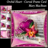 Orchid Heart - Curved Frame Card