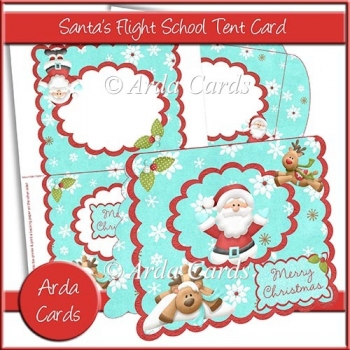 Santa's Flight School Tent Card