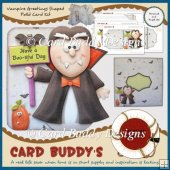 Vampire Greetings Shaped Fold Card Kit