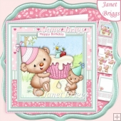 TED'S CUPCAKE PARTY 7.5 Decoupage & Insert Kit