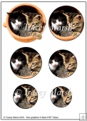2 Cute Cats in Flower Pot Round Pyramage Sheet