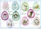 Cottage Chic Easter Egg Diecut Embellishments for Cards,Crafts