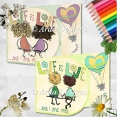 Love Is Love D Flap Card Duo